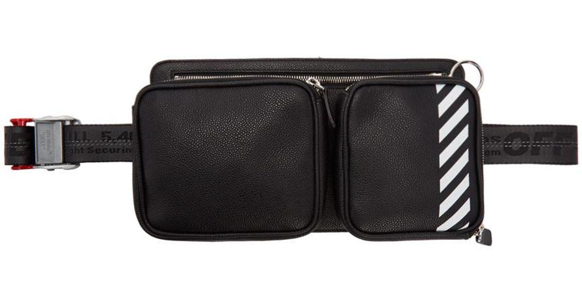 c0f195d8a Off-White c/o Virgil Abloh Black Diag Hip Bag in Black for Men - Lyst