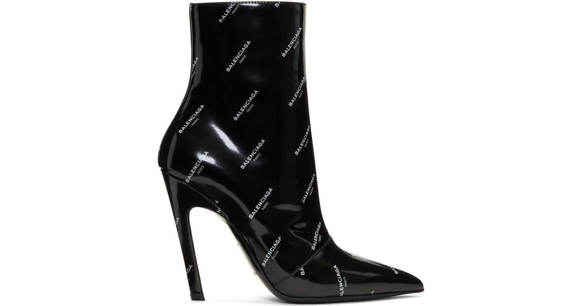 Balenciaga All Over Logo Slash Heels yqU2UyAxkr