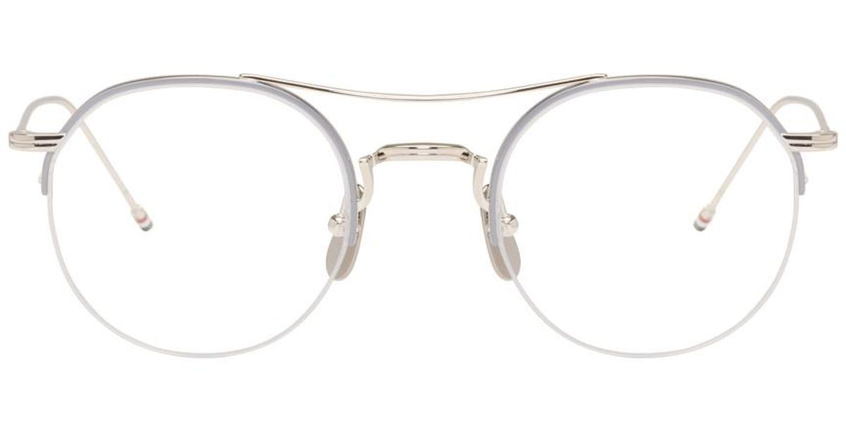 5061fb9bfe06 Lyst - Thom Browne Silver Tb-903 Glasses in Metallic for Men