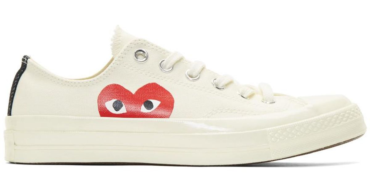 56785ff942a5 Play Comme des Garçons Off-white Converse Edition Chuck Taylor All-star 70  Sneakers in White for Men - Lyst