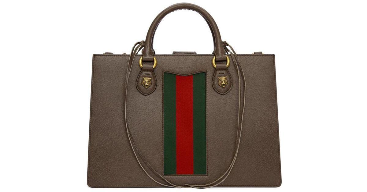 a41d6751c3aa2b Lyst - Gucci Brown Animalier Bag in Brown