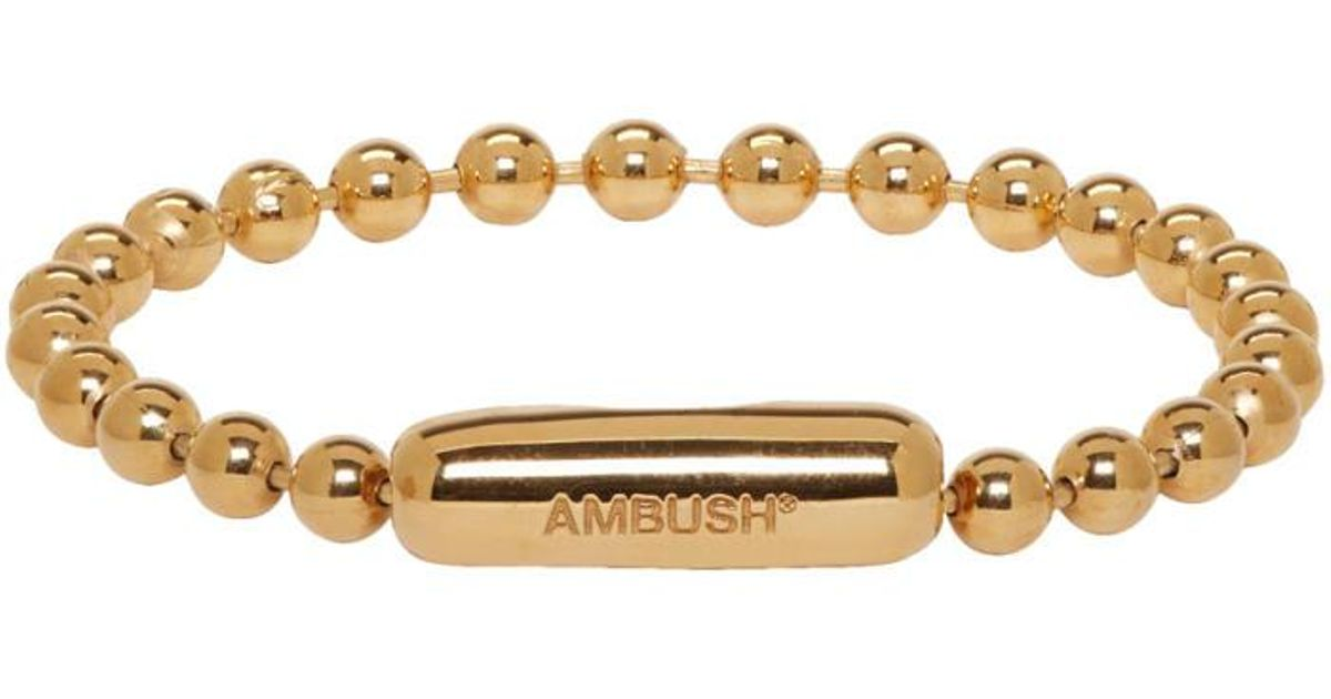 Lyst Ambush Gold Ball Chain Bracelet In Metallic For Men Save 67 05882352941177