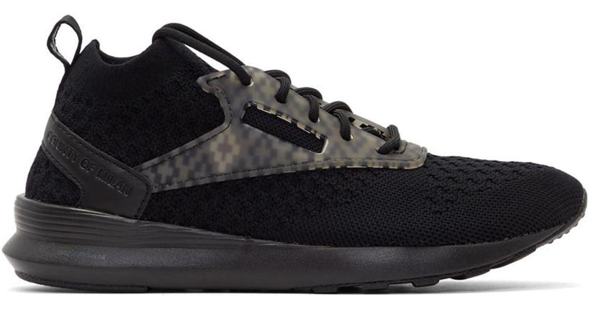 Marcelo Burlon Black Reebok Classics Edition Zoku Runner Utlk Sneakers in  Black - Lyst 523d8a551