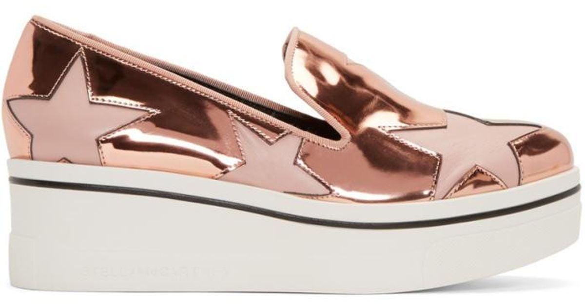 e67122677f9 Lyst - Stella McCartney Copper Star Platform Binx Sneakers