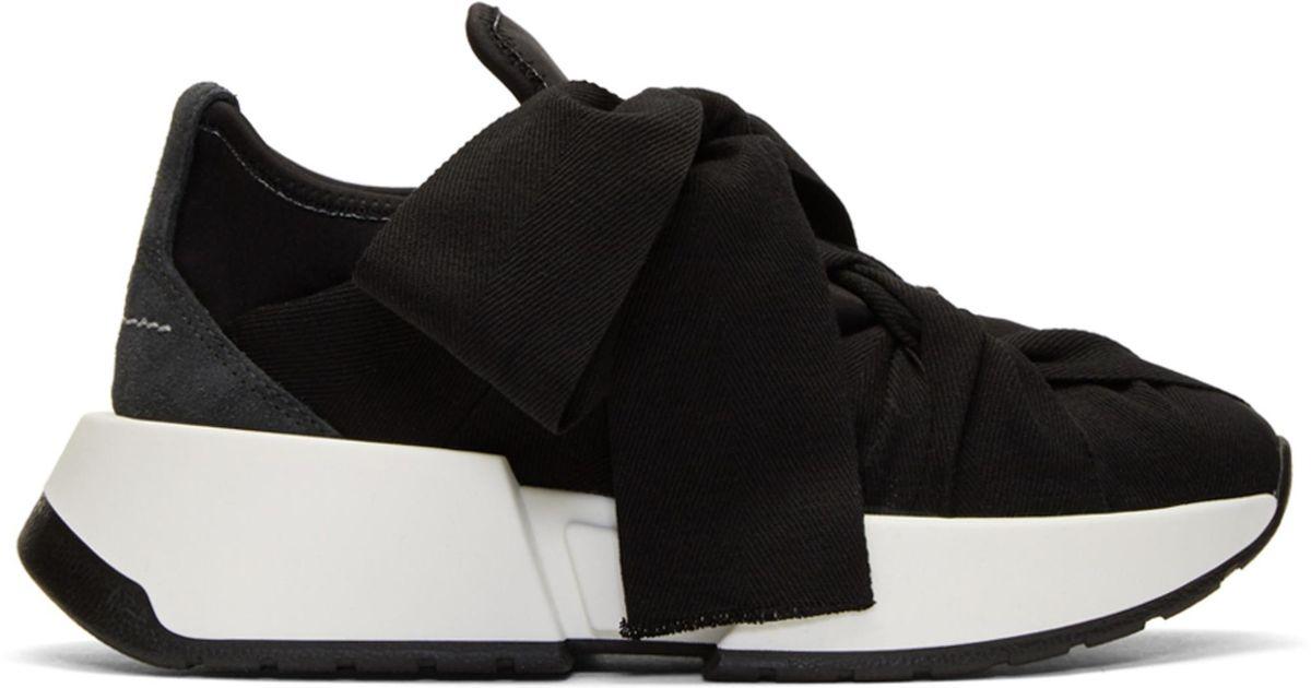 MM6 Maison Martin Margiela Black & Grey Flare Sneakers PBIn2rzQx