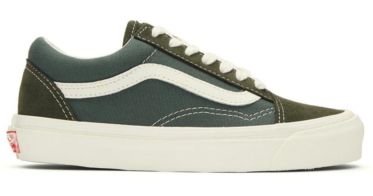 Lyst - Vans Green Og Old Skool Lx Sneakers in Green 8eee17f0e7