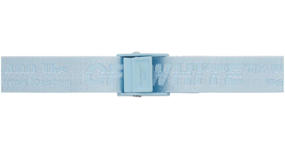 Lyst - Ceinture bleue Mini Industrial Off-White c o Virgil Abloh en coloris  Bleu 29ab14a9c11