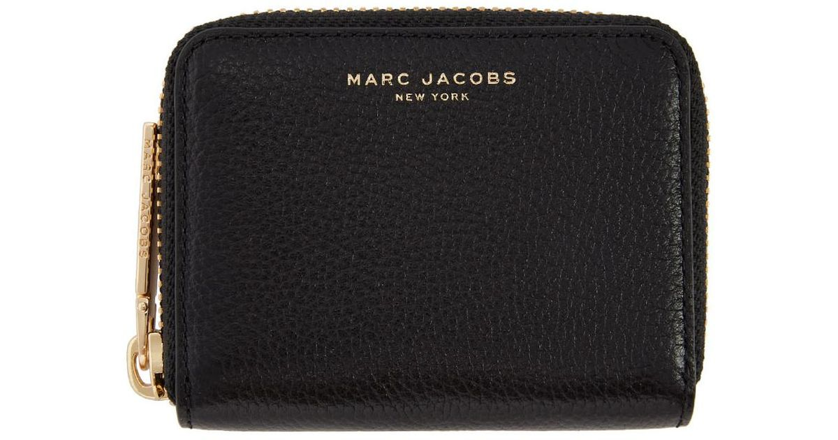 Lyst - Marc Jacobs Black Small Zip Around Wallet in Black 251c9dc4e