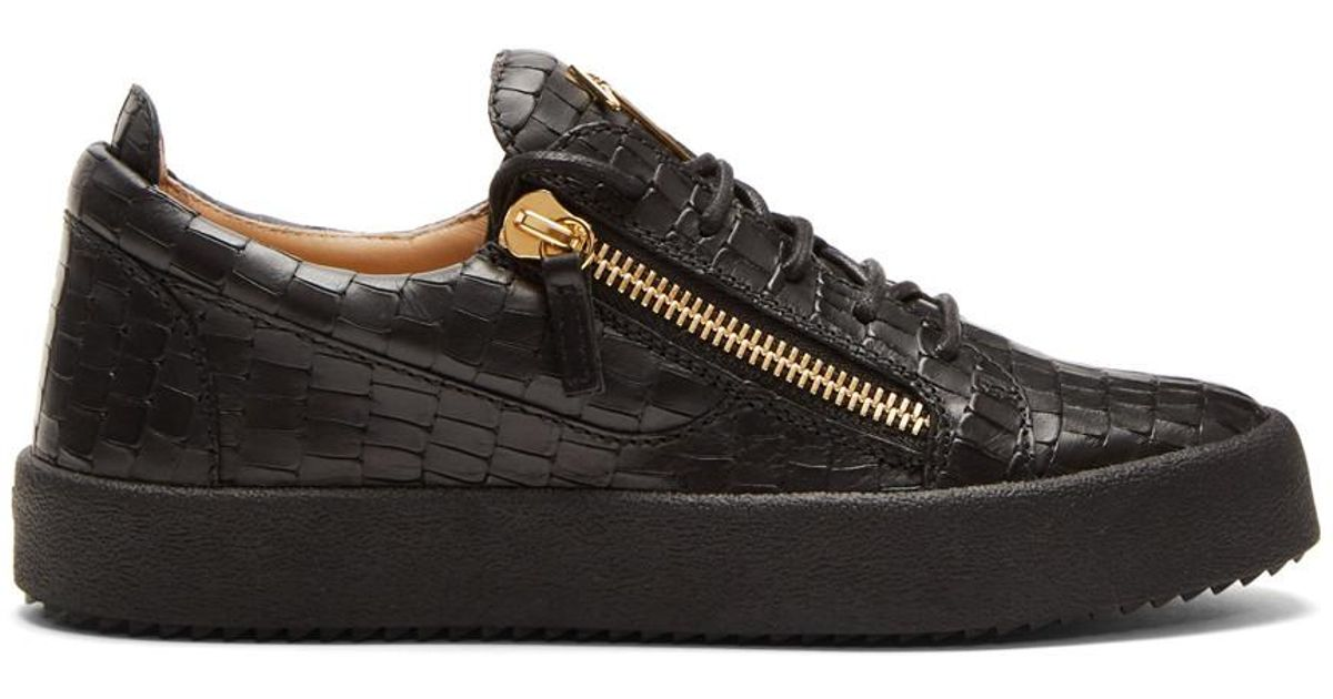 Black Croc May London Sneakers Giuseppe Zanotti F1h3fpzg8g