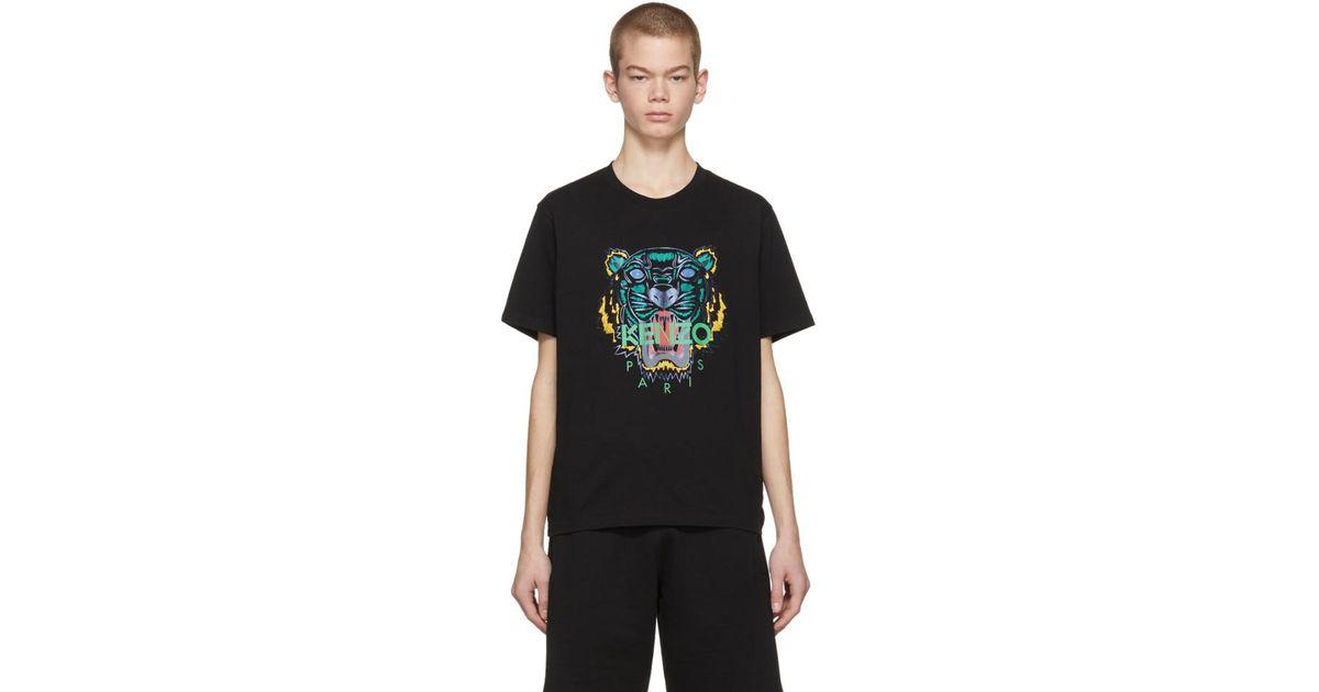 bff08fe47 T-shirt noir Holiday edition limitee KENZO pour homme en coloris Noir - Lyst