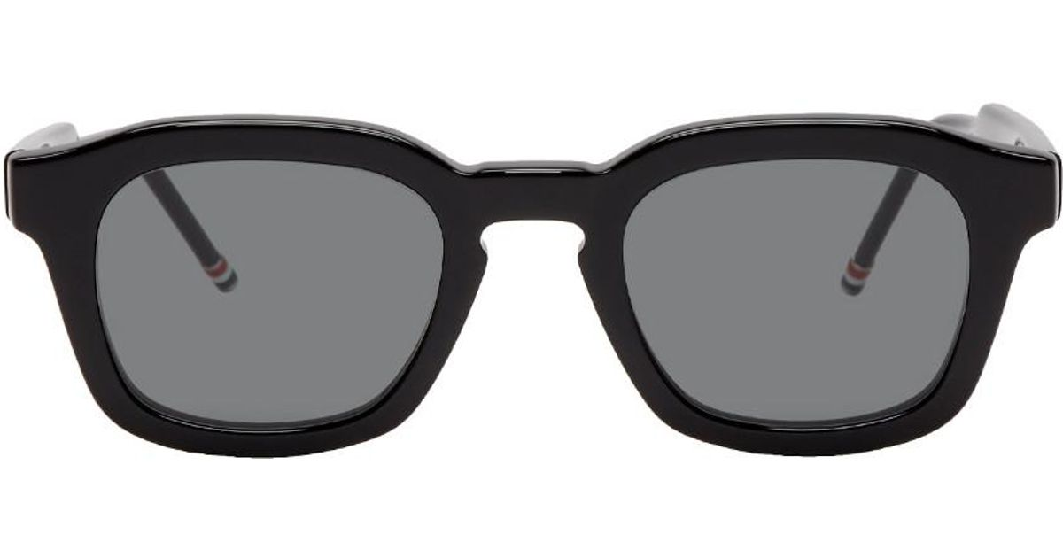 eed185625016 Thom Browne Black Tb-412 Sunglasses in Gray for Men - Lyst