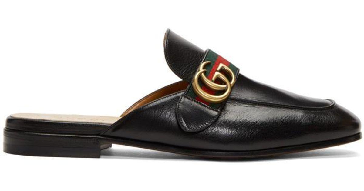 Black GG Princetown Slippers Gucci HSpFWbXc1