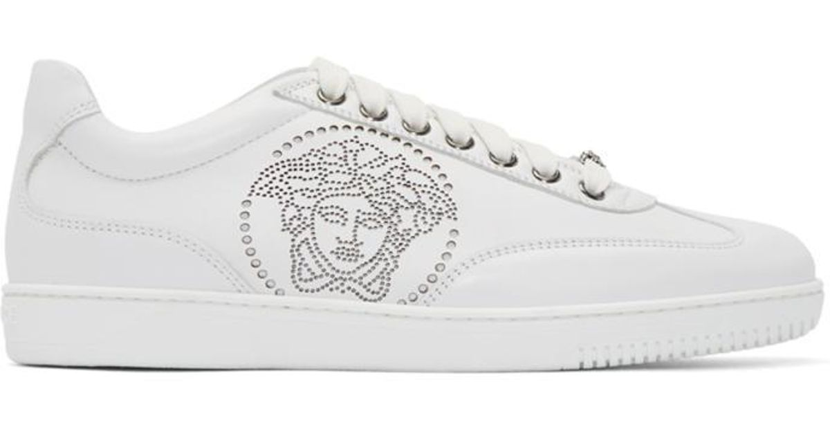perforated Medusa sneakers - Black Versace BhQt9yzPO1