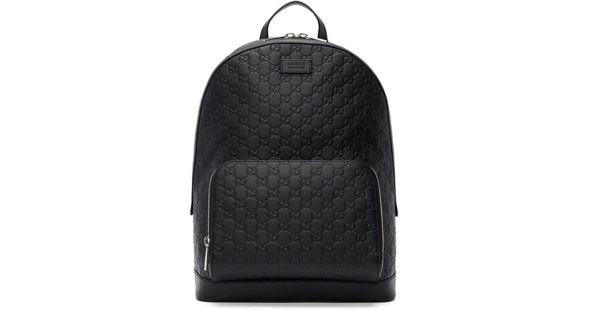 ec1b658d50c Lyst - Sac a dos noir Signature Gucci pour homme en coloris Noir