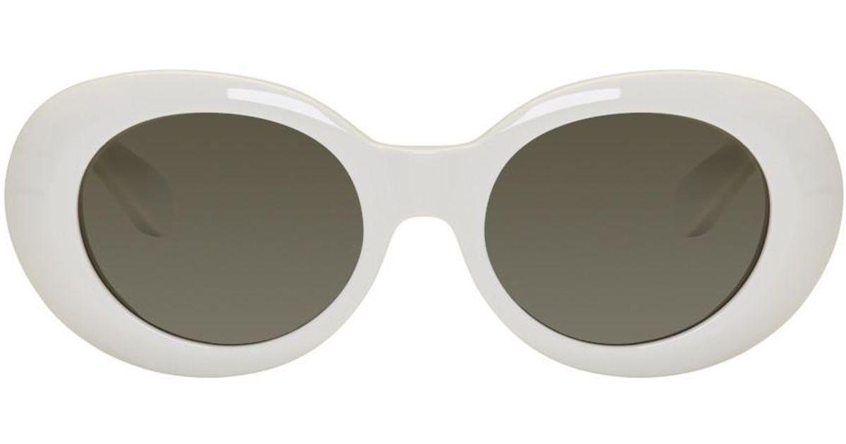 Lyst - Lunettes de soleil rondes blanches Mustang Acne Studios en coloris  Blanc d2ec093c7bda