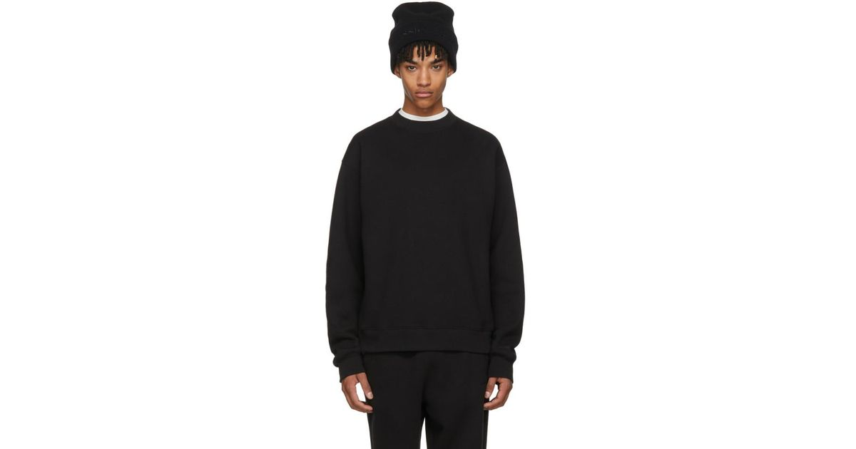 a9ab1fc1e8 Lyst - Alexander Wang Black Oversized Crewneck Sweatshirt in Black for Men