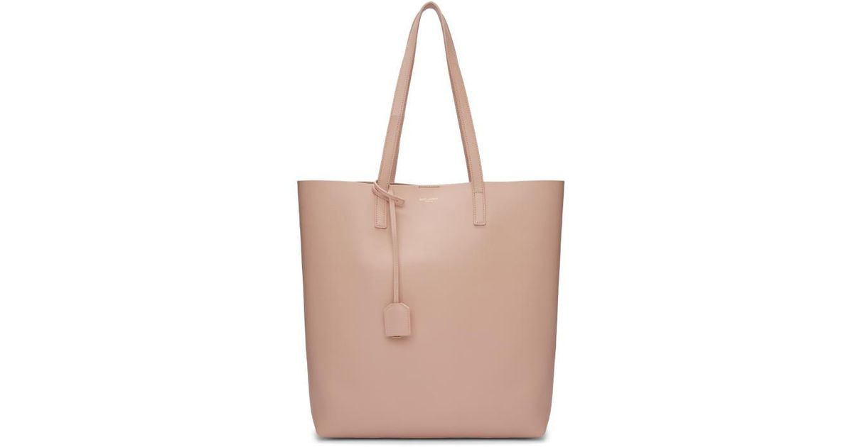 010975d535 Lyst - Saint Laurent Pink Medium North south Shopping Tote in Pink