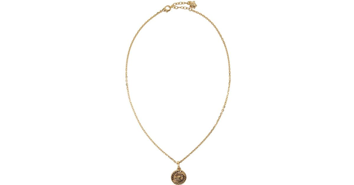 Lyst versace gold round chain pendant necklace in metallic for men lyst versace gold round chain pendant necklace in metallic for men save 25818181818181813 aloadofball Images