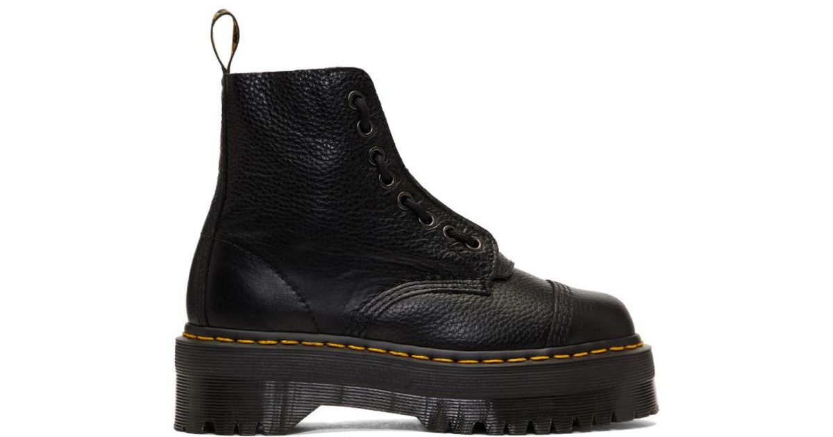 cc584d9f7599 Dr. Martens Black Quad Retro Sinclair Boots in Black - Lyst