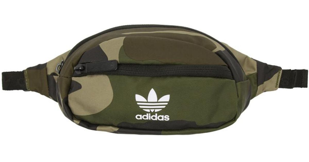 c0437fcd89ea Lyst - Adidas Originals Green And Brown Camo National Waist Pouch in Green