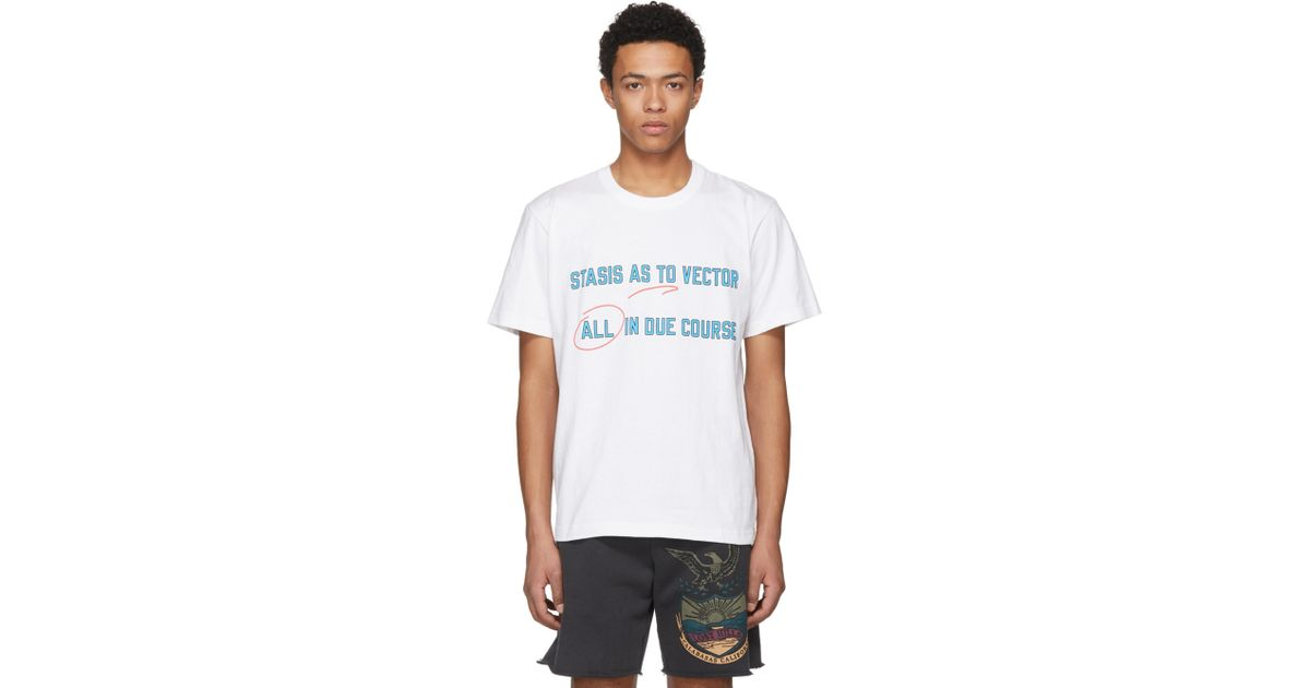 Mens Stasis As To Vector Cotton T-Shirt sacai Cheap Free Shipping 100% Guaranteed Online uNCG6lJVG