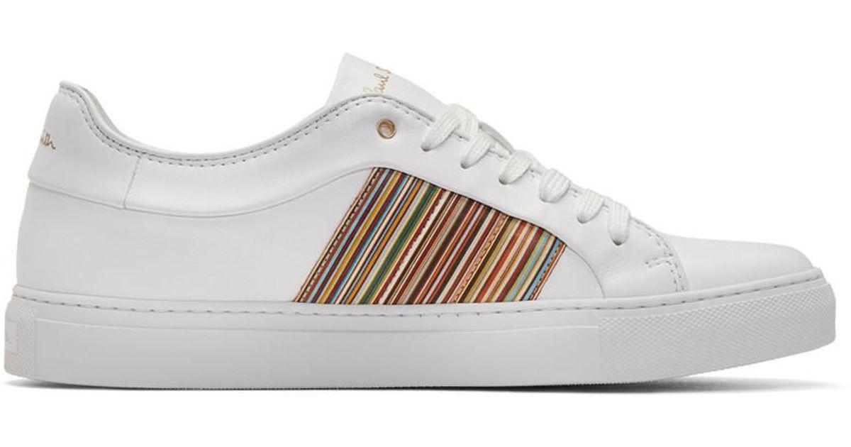 Paul Smith White Multistripe Ivo Sneakers nhcJzz