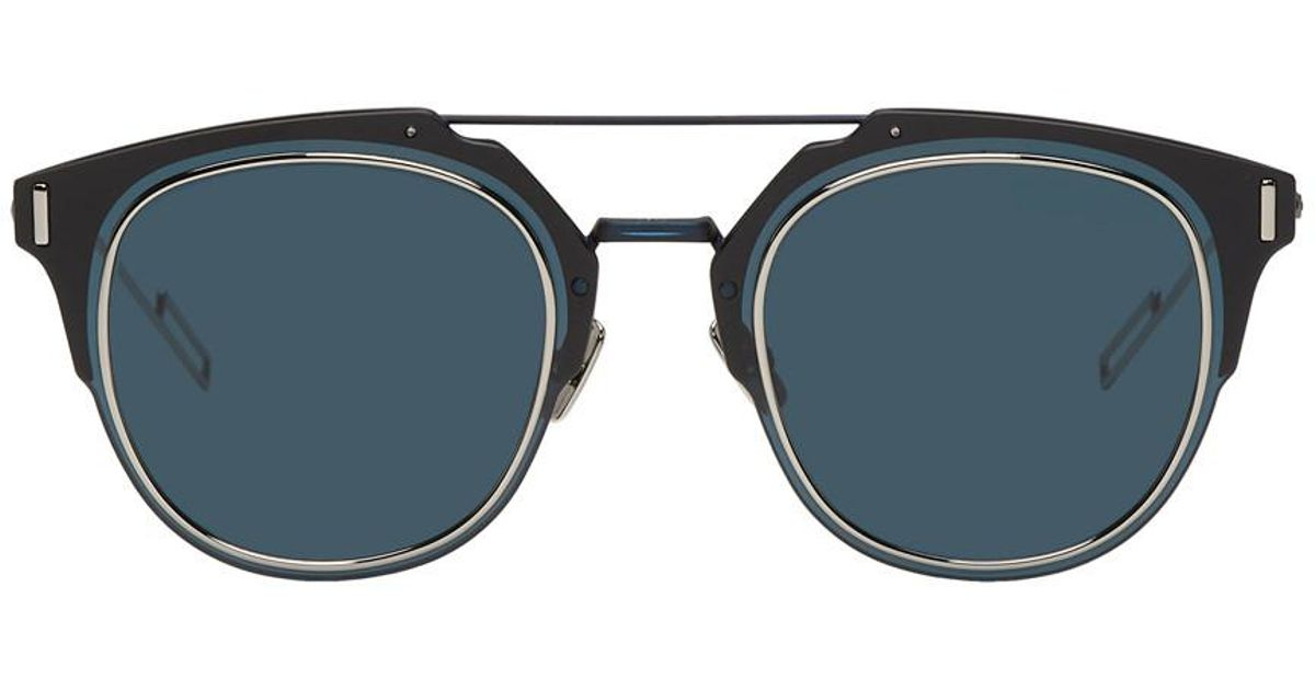 843b929600 Dior Homme Navy Dior Composit 1.0 Sunglasses in Blue for Men - Lyst