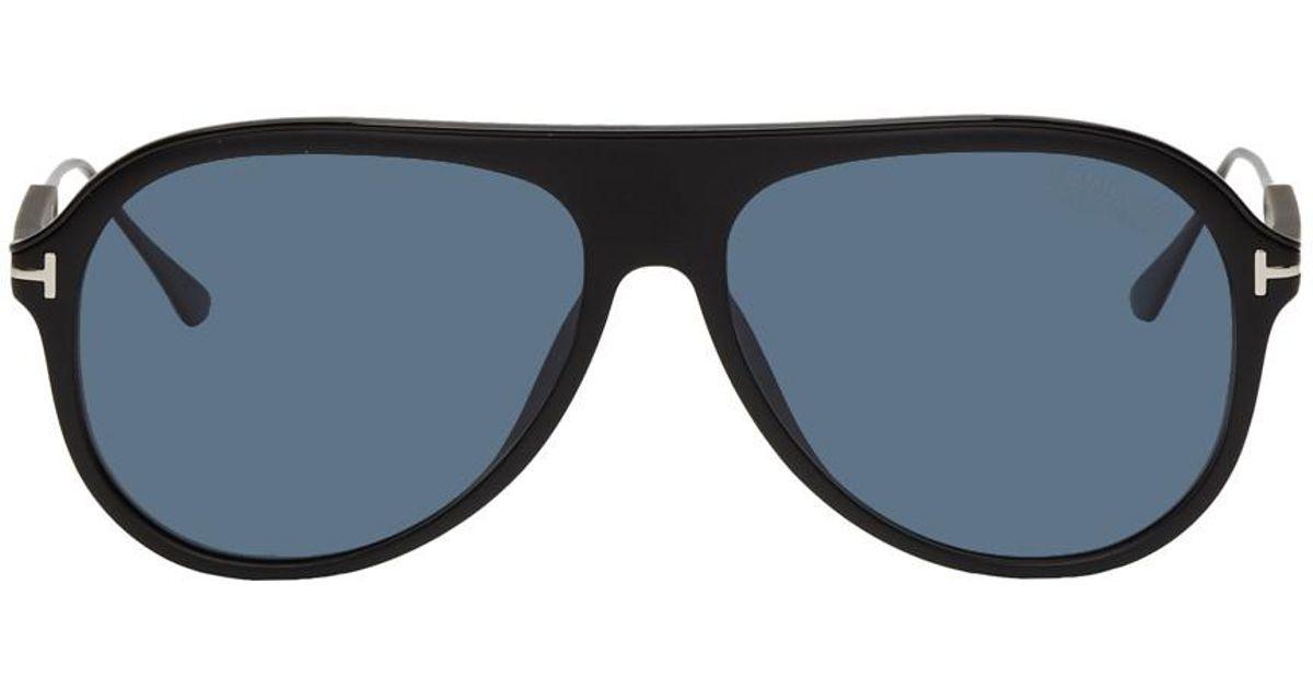 ecbe3b9a1e1ee Lyst - Tom Ford Black Nicholai-02 Sunglasses in Black for Men
