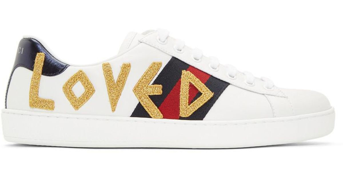 62fe093ba Gucci White Loved New Ace Sneakers in White for Men - Lyst