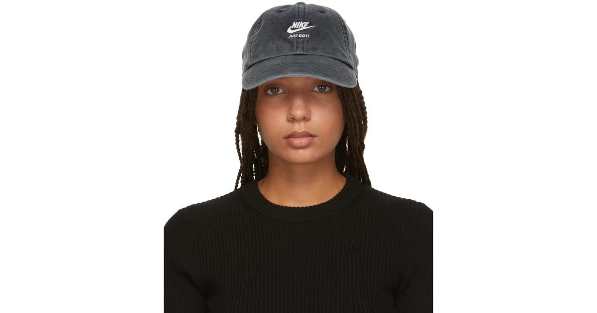 3bf05bc87c8 Lyst - Nike Embroidered Cap in Black