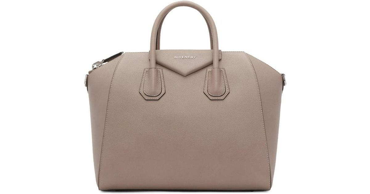dbc29ad2d129 Lyst - Givenchy Taupe Medium Antigona Bag in Brown