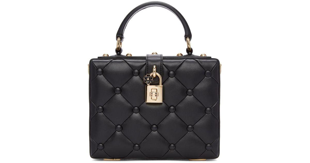 191a921242 Lyst - Dolce   Gabbana Black Dolce Box Bag in Black