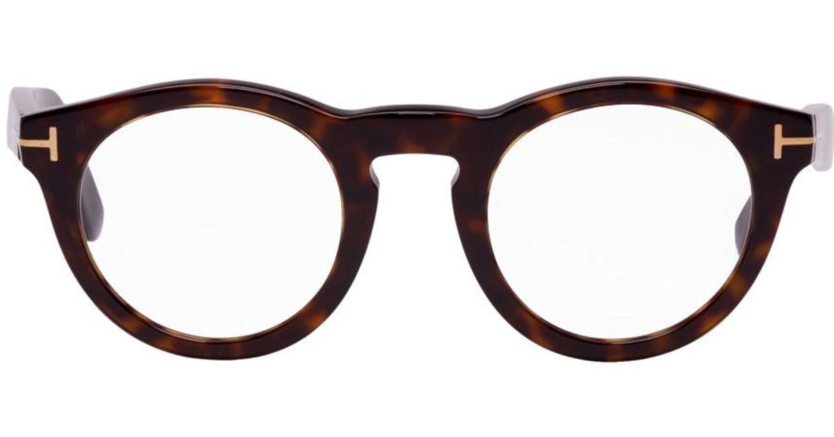 Lyst - Lunettes rondes ecailles de tortue Soft Tom Ford pour homme en coloris  Noir 7ae44baa9bef