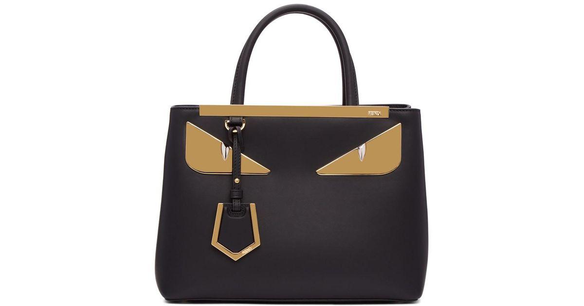 caa4d17415b5 Fendi Petite 2jours Bag Bugs Bag in Black - Lyst