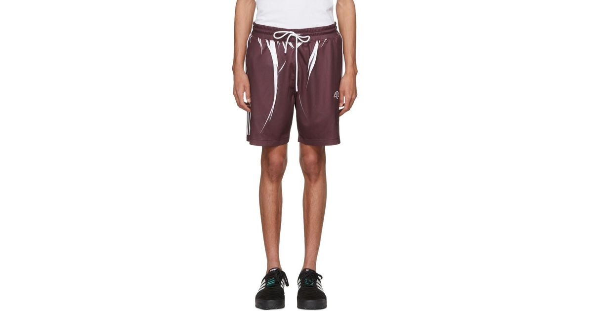 Alexander Wang Purple And White Drawcord Shorts for men