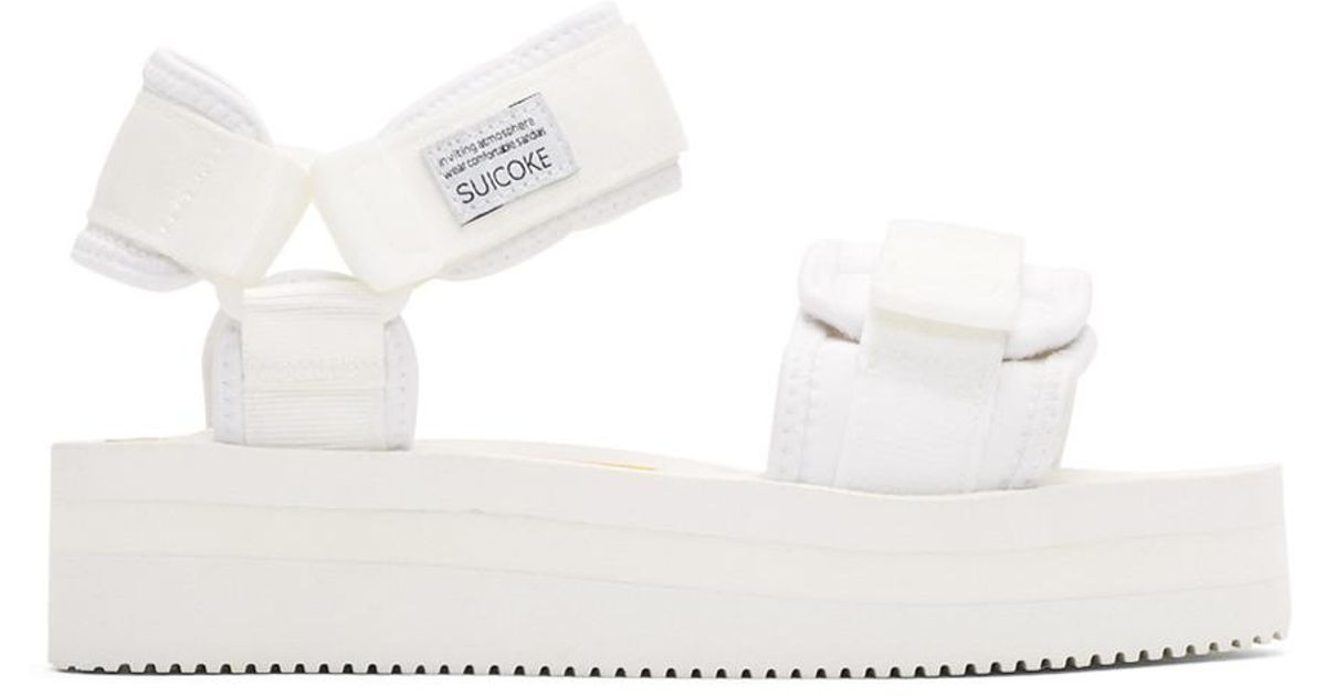 05be90d032d Lyst - Suicoke Off-white Cel Vpo Sandals in White