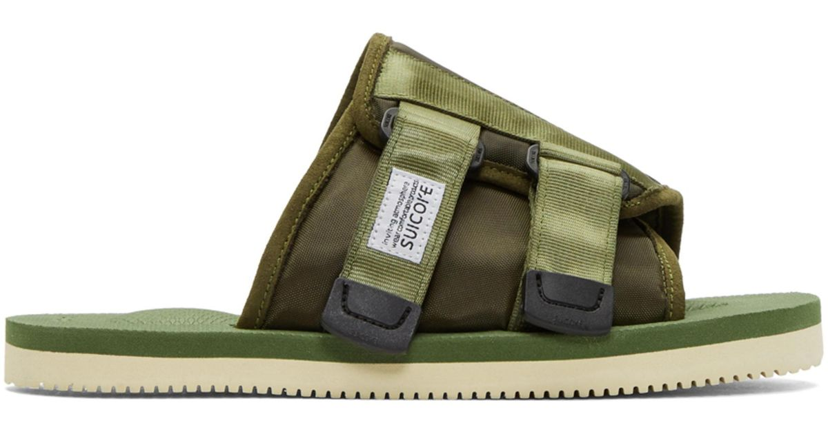 ce6839525c1c Lyst - Suicoke Green Kaw-cab Sandals in Green for Men