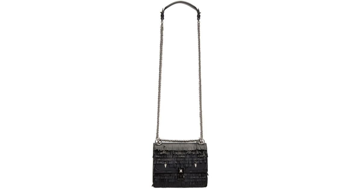 Black Fringed Bag Bugs Mini Kan I Bag Fendi O1NpY