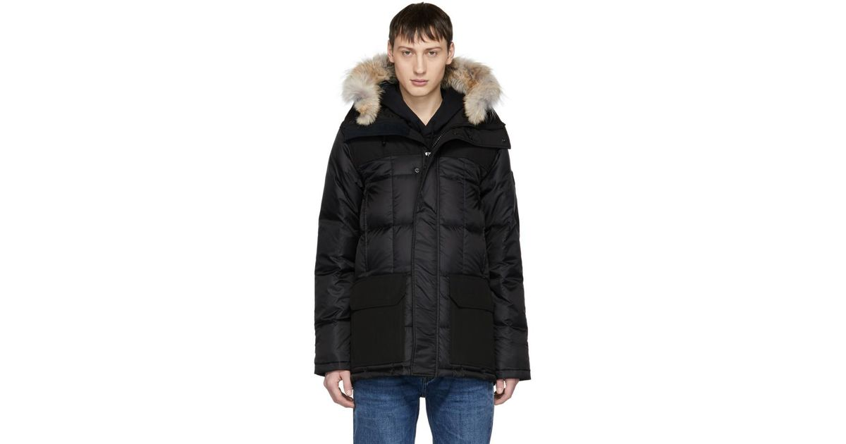 330e0aa48439 Lyst - Canada Goose Black Black Label Down And Fur Callaghan Parka in Black  for Men