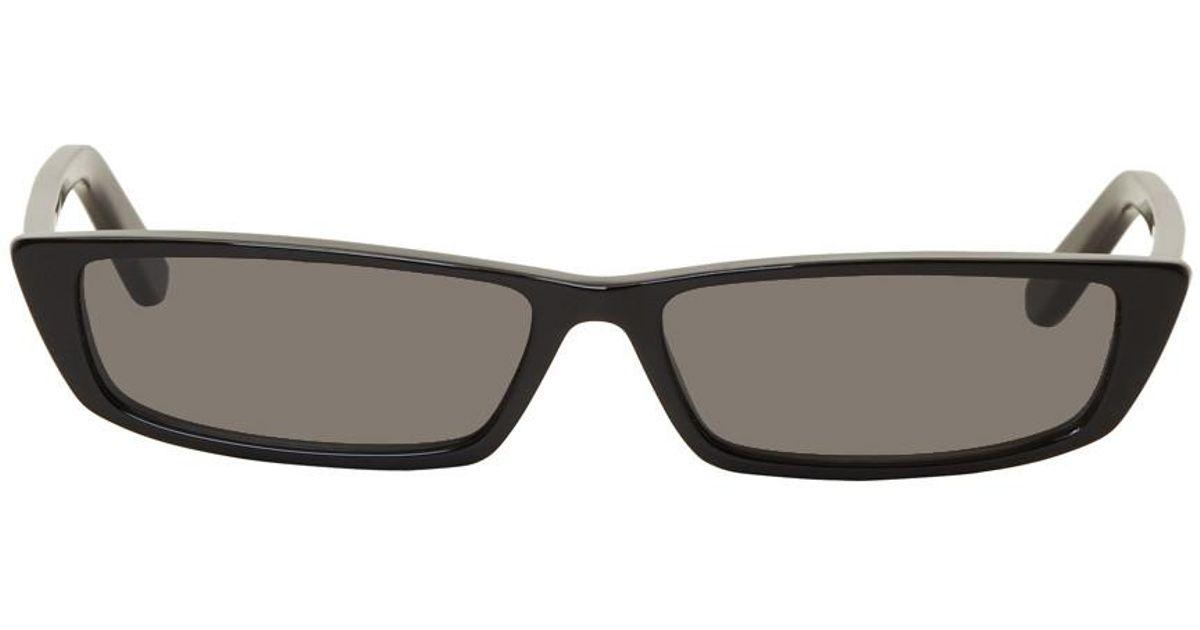 0ea5946801 Balenciaga Black Thin Rectangular Sunglasses in Black - Lyst