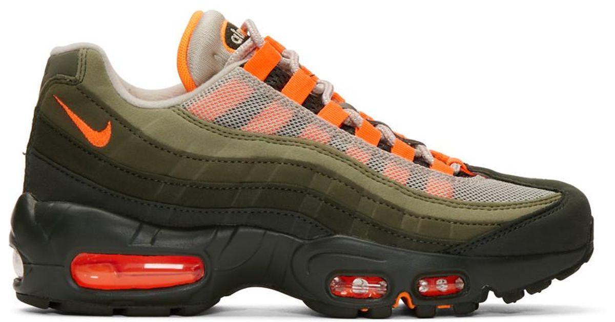 Lyst - Nike Green And Orange Air Max 95 Og Sneakers in Green e591ea288