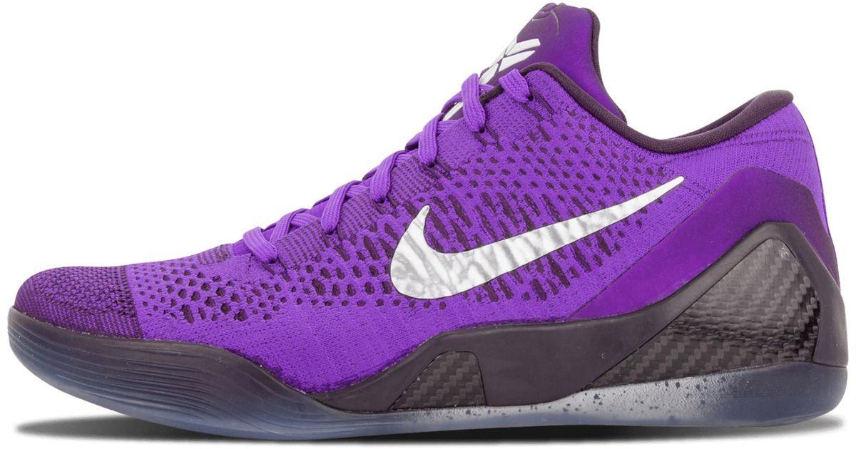 lowest price 37f52 5dd67 Nike Kobe 9 Elite Low in Purple for Men - Save 16% - Lyst