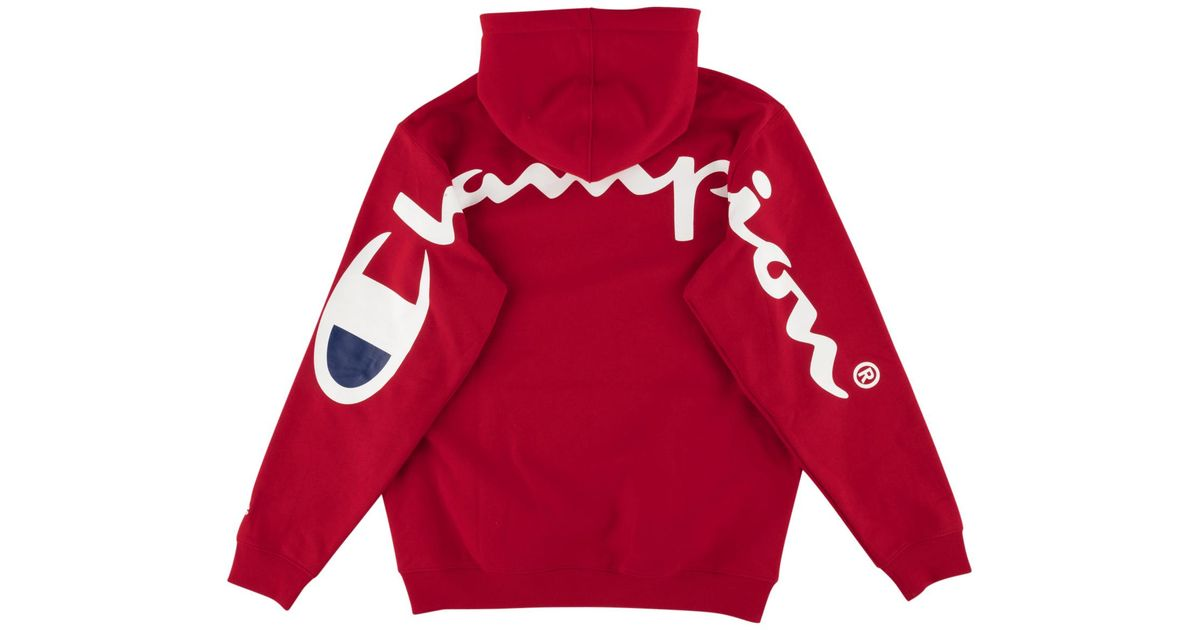 fc8cddba5db6 Lyst - Supreme Champion Hooded Sweatshirt in Red for Men