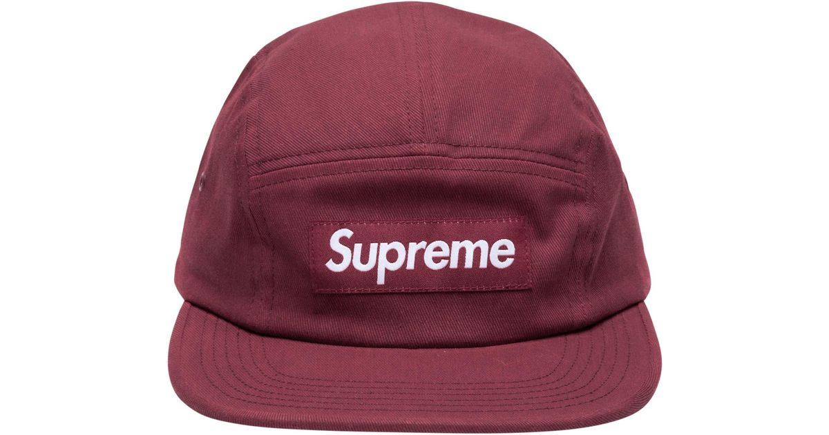 d2eb3a19797 Lyst - Supreme Reactive Camp Cap in Red for Men