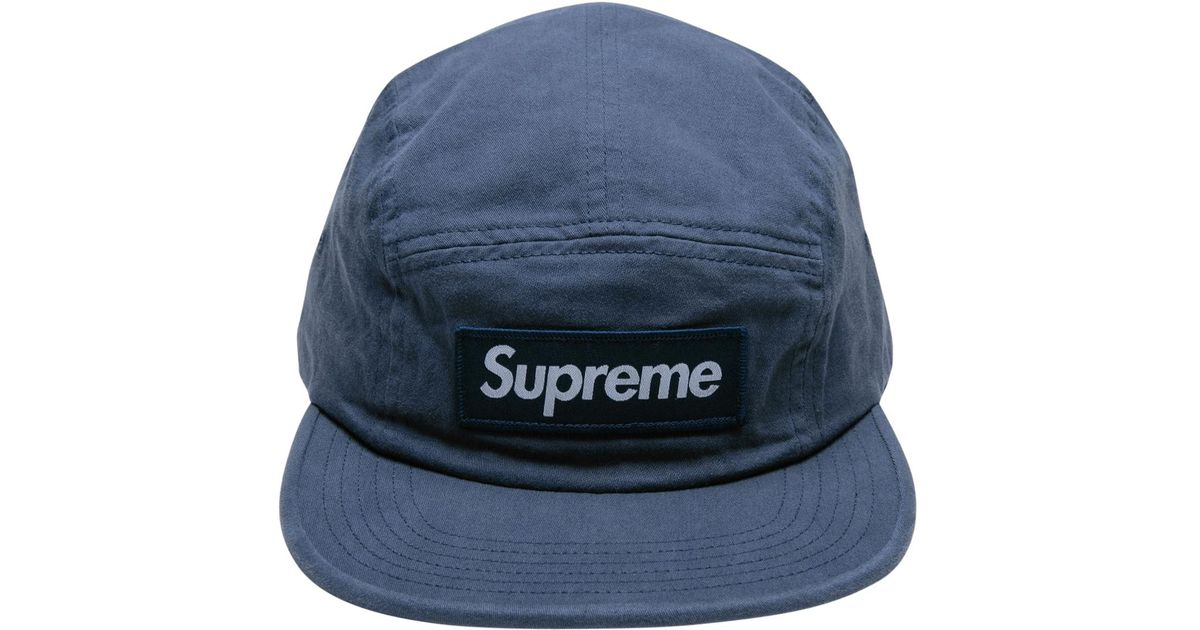 b9847935 Supreme Military Camp Cap in Blue for Men - Lyst
