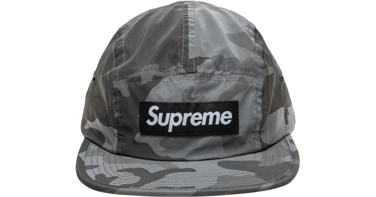 Lyst - Supreme Reflective Camo Camp Cap in Gray for Men 60bc86cb13a