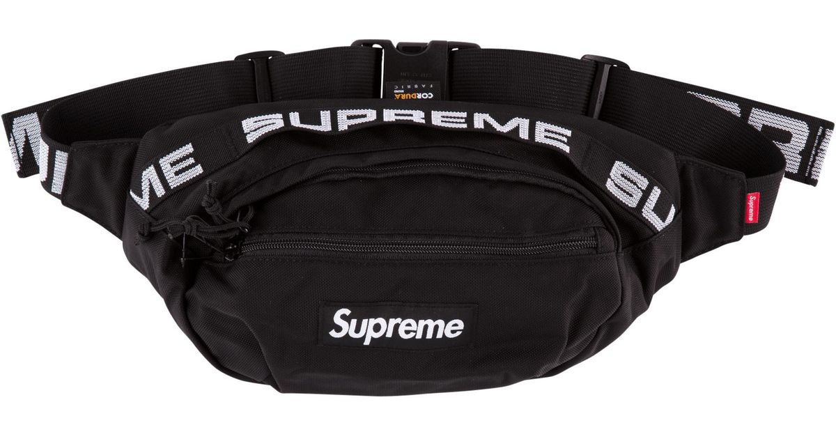 8999f41400a1 Supreme Waist Bag 'ss 18' in Black - Lyst