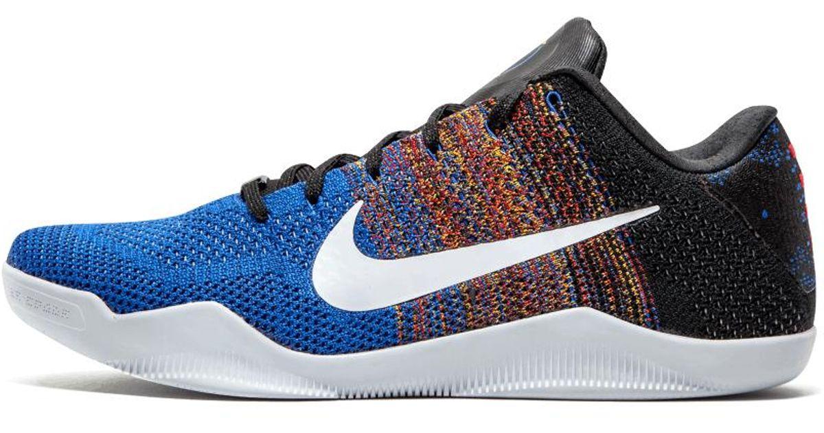 2c5da417b836 Lyst - Nike Kobe 11 Elite Low Bhm Multi collegiate Orange  black History  Month  in Blue for Men