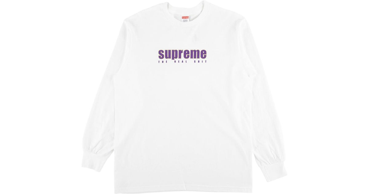 d2ff485c01f7 Supreme The Real Shit L s Tee in White for Men - Lyst