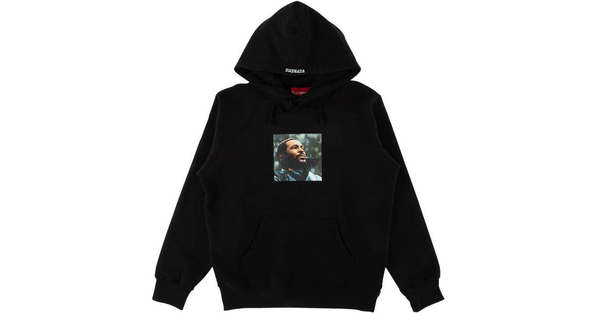 8ad232fa Supreme Marvin Gaye Hooded Sweatshirt in Black for Men - Save 23% - Lyst